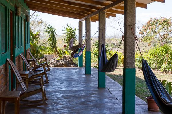Notre balcon à El Encanto, Santa Cruz - Ometepe, Nicaragua