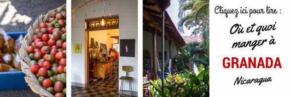 Où et quoi manger à Granada, Nicaragua