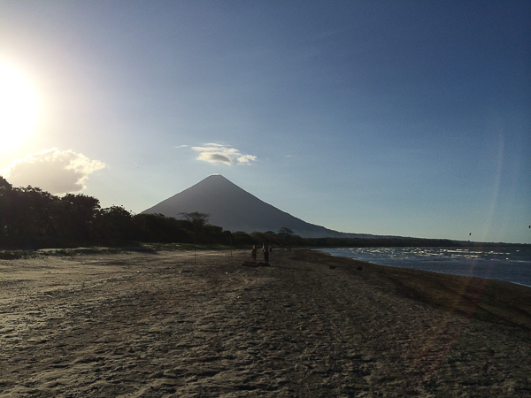 Panorama de la plage Santo Domingo - Ometepe, Nicaragua