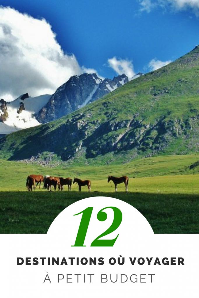 12 destinations pour voyager à petit budget où partir en vacances