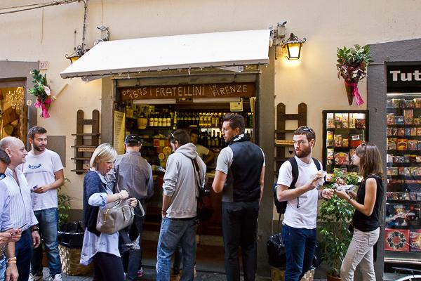 La file d'attente à I Due Fratellini - Florence, Toscane