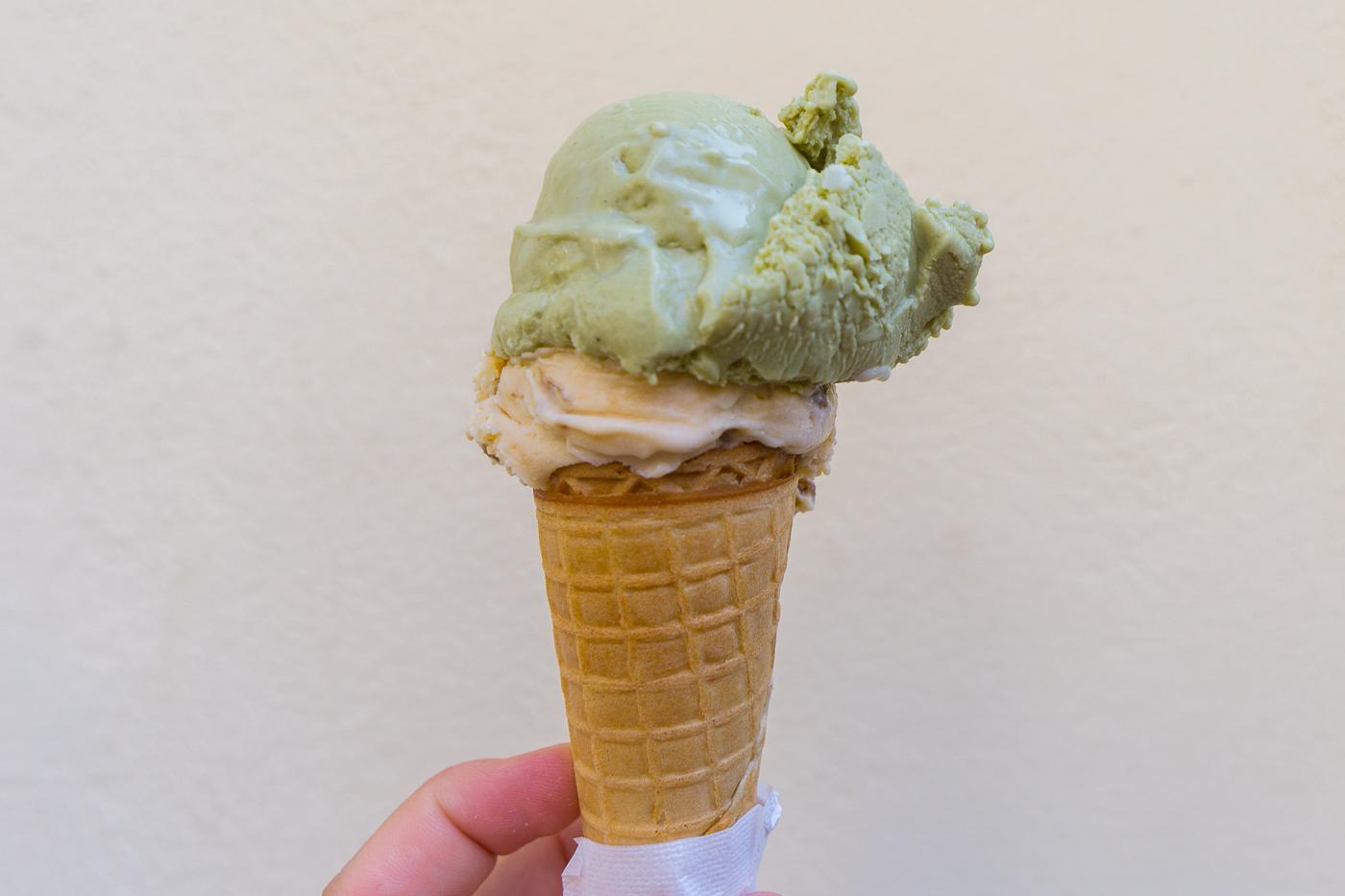 Cornet de gelato en Italie