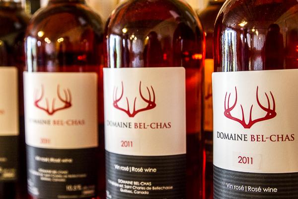 Bouteilles de vin du Domaine Bel-Chas