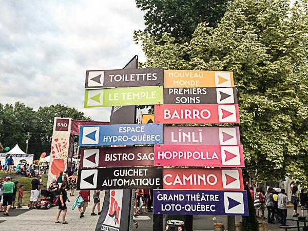 Entrée du site - Mondial des Cultures de Drummondville