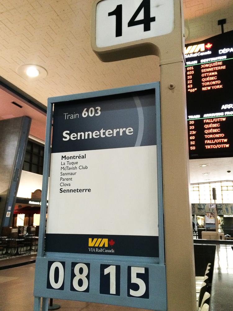 Gare centrale de Montréal - Train pour Senneterre - Abitibi-Témiscamingue