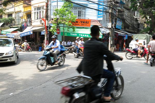 La circulation de Hanoi, Vietnam
