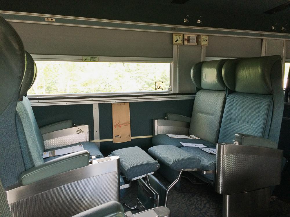Les sièges du train VIA Rail pour Abitibi-Témiscamingue