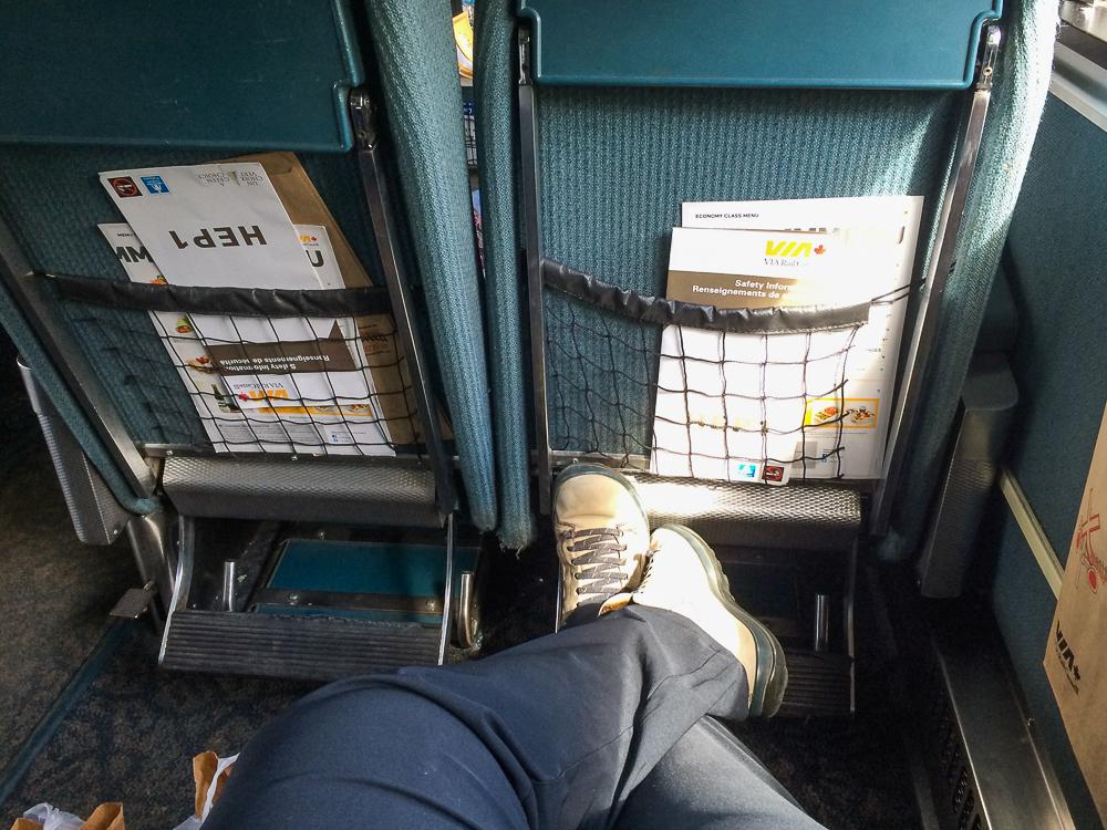 L'espace dans le train pour l'Abitibi-Témiscamingue - VIA Rail