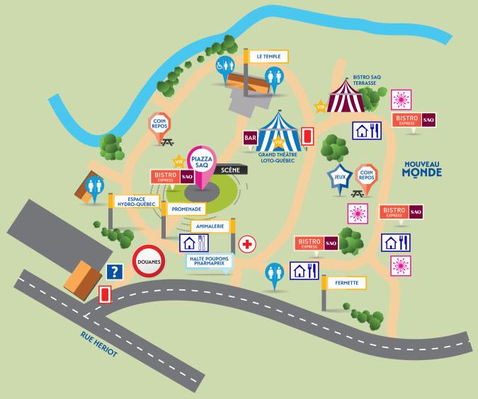 Plan du site - Mondial des cultures de Drummondville