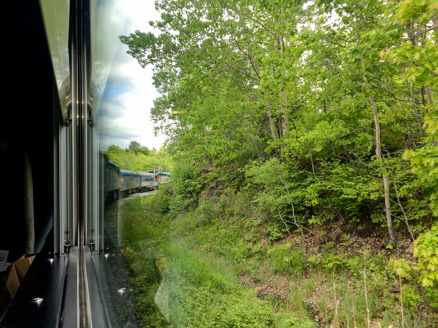 Vue du Train Montréal-Senneterre pour l'Abitibi-Témiscamingue - Via Rail Canada
