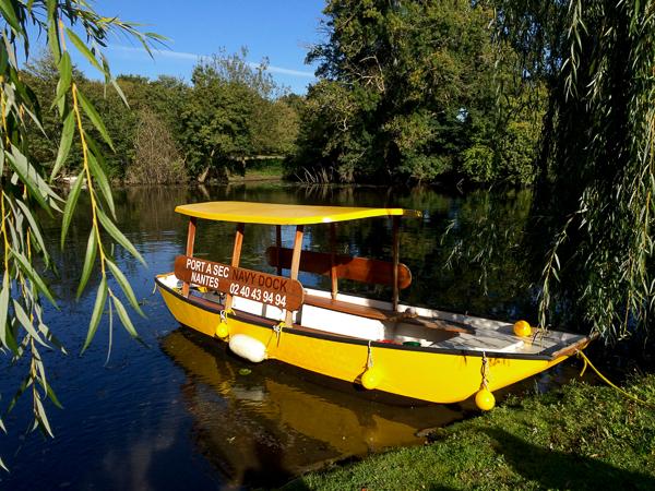 Notre bateau pour la journée - Sur la Sèvre près de Nantes, France
