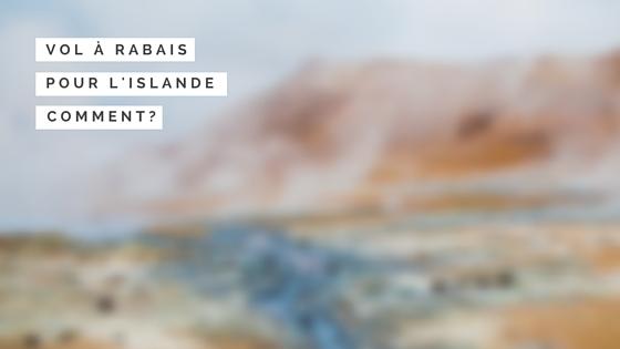 VOL POUR L'ISLANDE