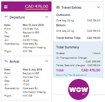 Vrai Total - Book a flight - WOW Air Islande Reykjavik