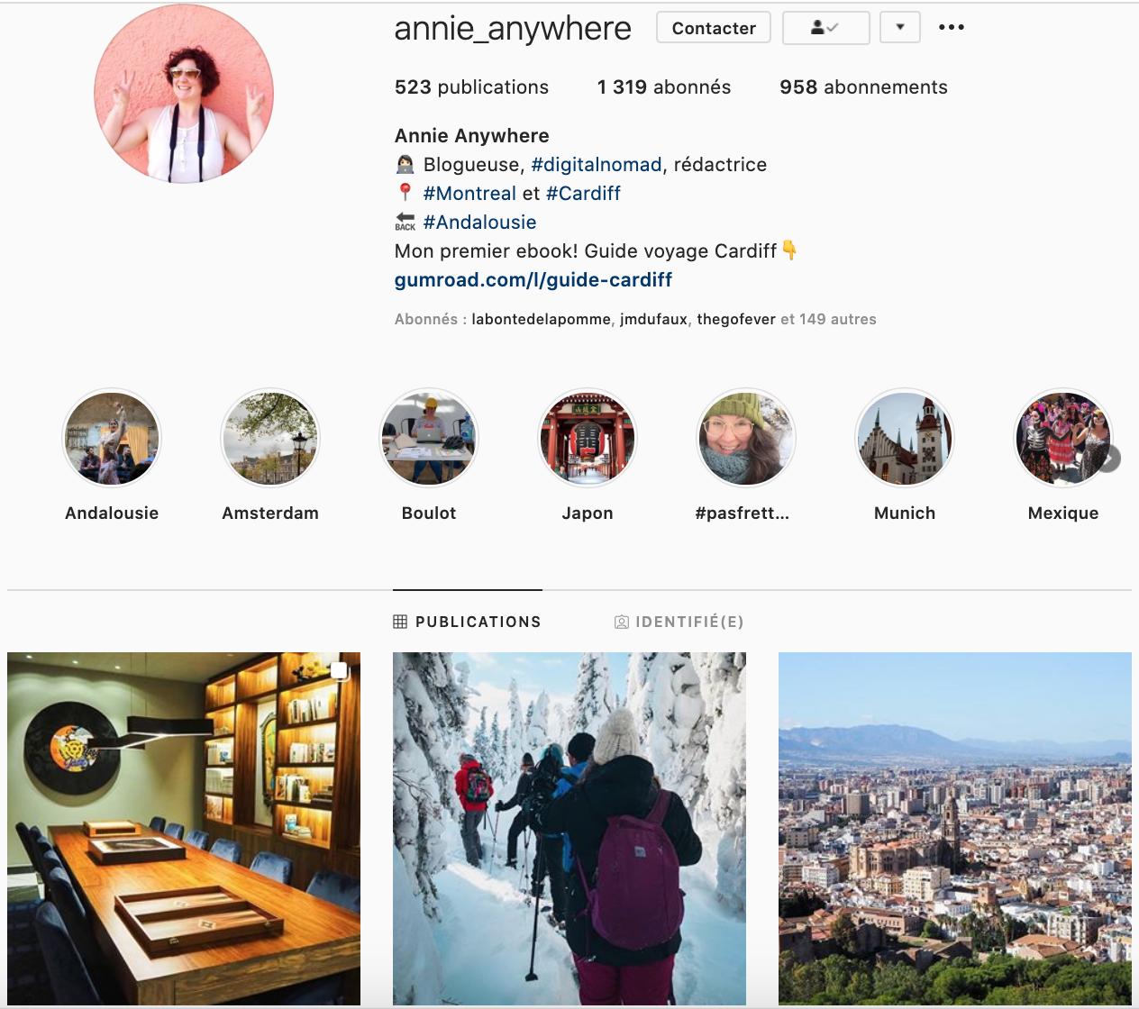 annie anywhere instagram