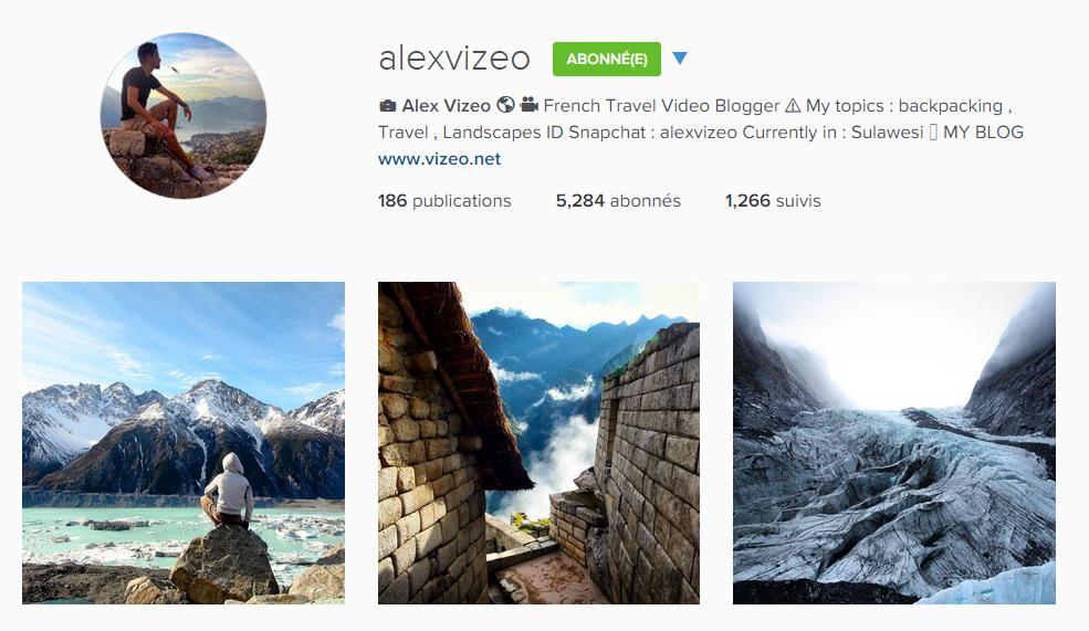 instagram alexvizeo
