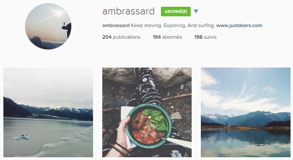 instagram ambrassard