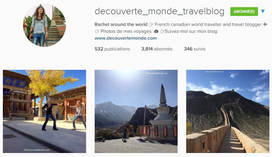 instagram rachel découverte monde