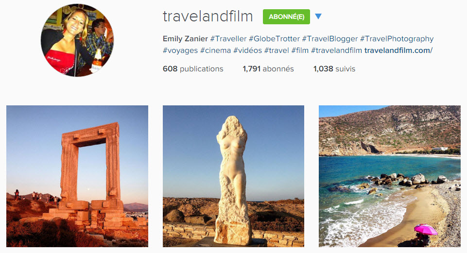instagram travelandfilm