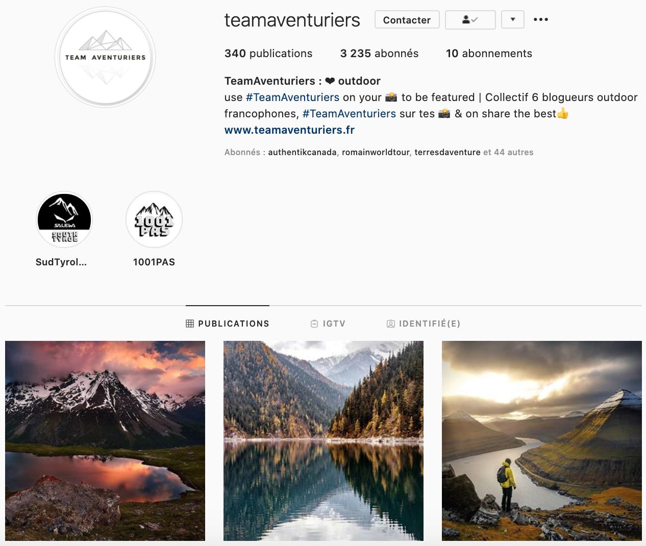 Team Aventuriers - photos de paysages