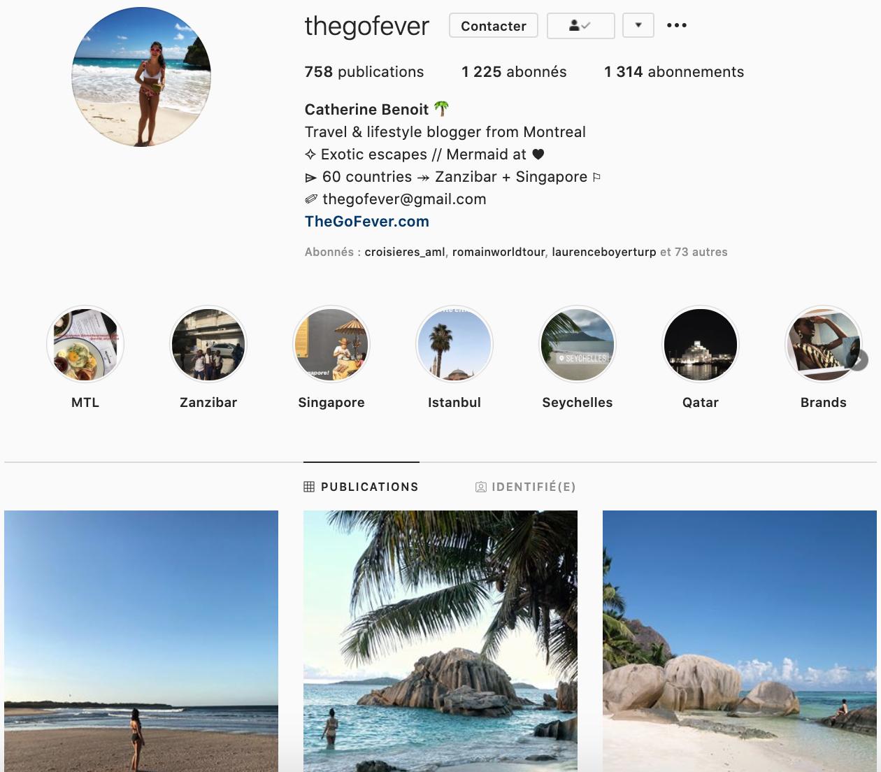 The Go Fever - instagrammeurs favoris
