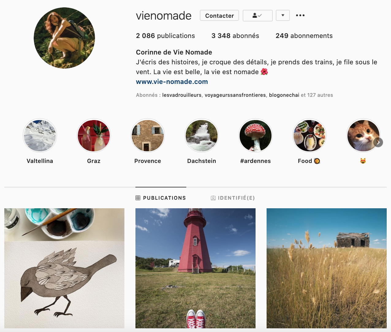 Vie Nomade Instagram