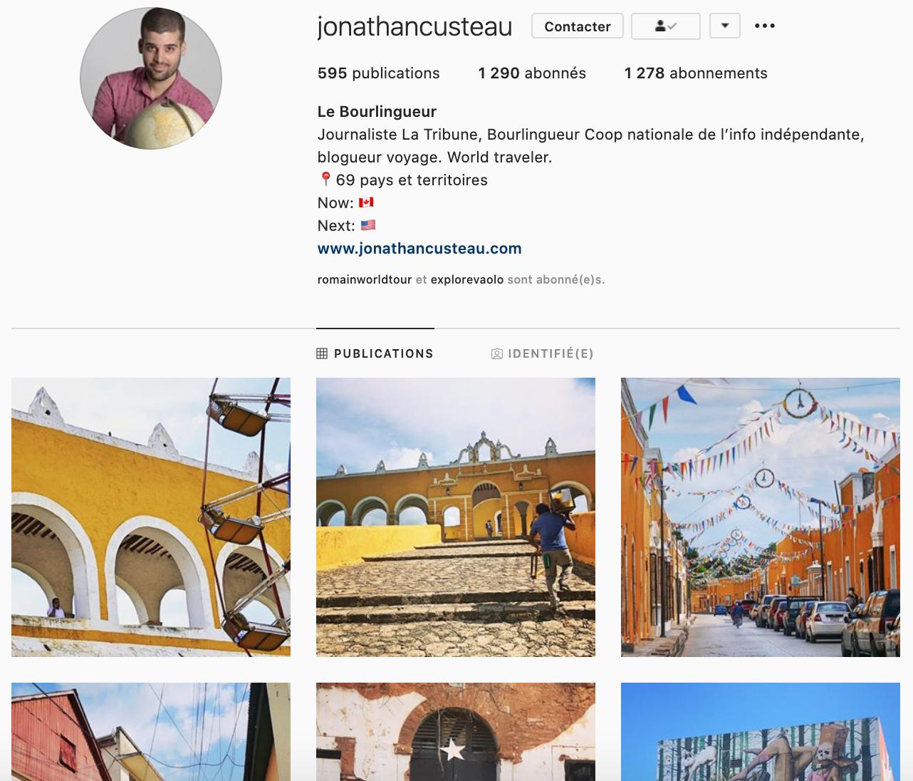 voyageur Jonathan Custeau le bourlingueur
