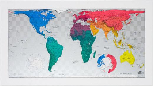 Carte du monde magnétique - Uncommon Goods