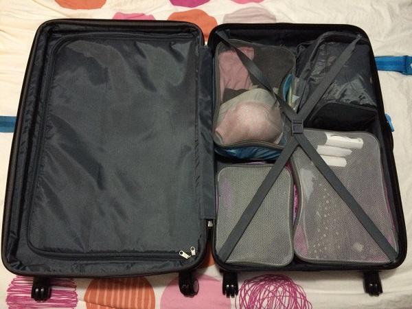 Contenu de ma valise - Cubes de rangement