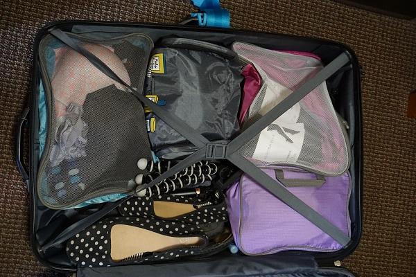L'organisation de ma valise grâce aux accessoires de cubes de rangement
