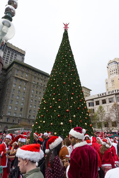 Santacon - Noel à San Francisco, Californie - Union Square