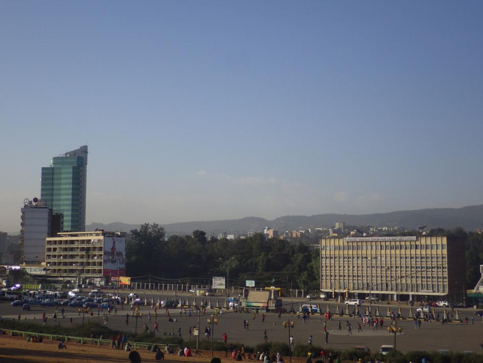 Afrique moderne avec gratte-ciel