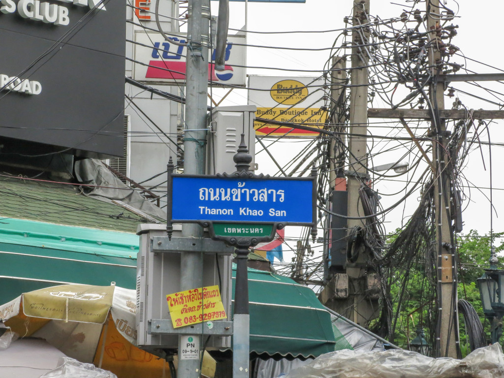 Amas de fils électriques - Koh San Road, Bangkok, Thailande