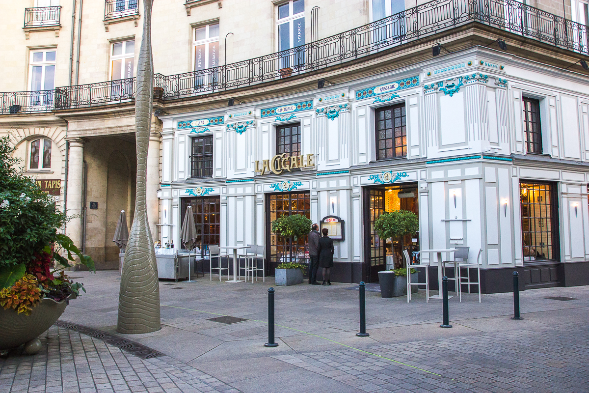 Devanture du restaurant La Cigale - Nantes, France