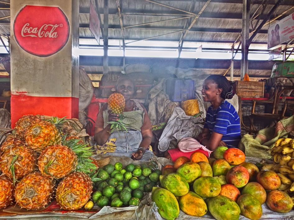 Marché africain coloré
