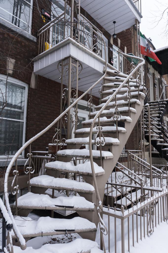 Escalier de Villeray - Montréal, Québec, Canada-12