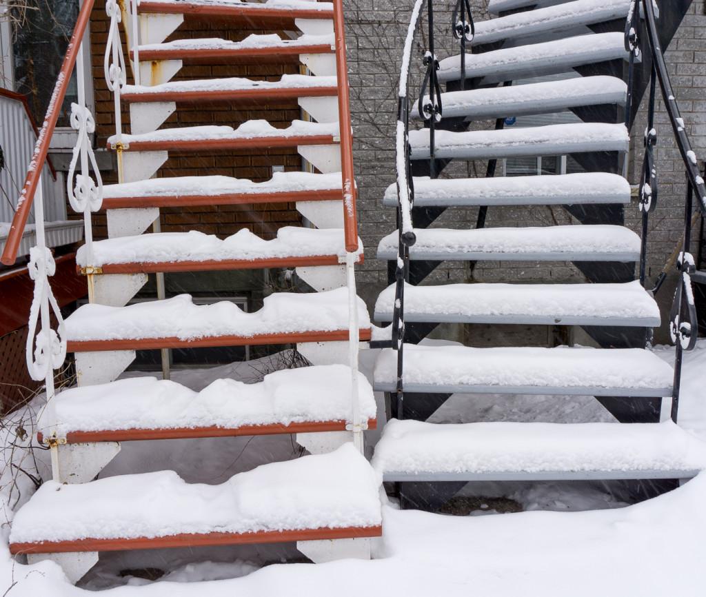Deux escaliers - Villeray - Montréal, Québec, Canada-18