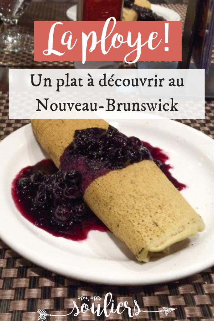 ploye à goûter à Edmundston au Nouveau-Brunswick