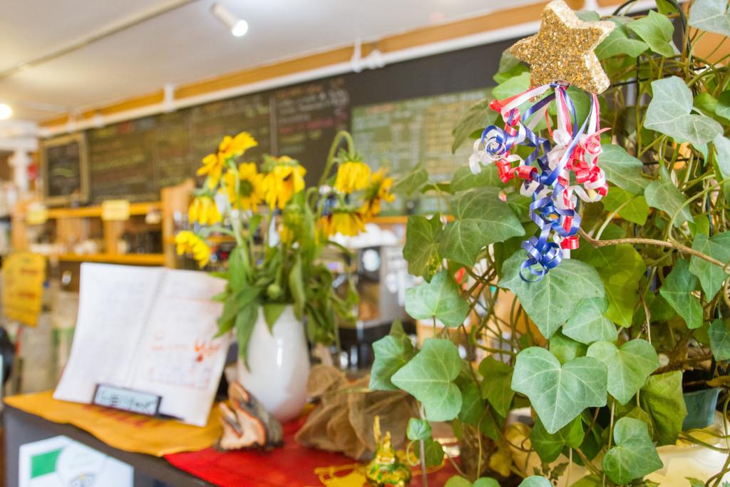 Bouquets de fleurs du Lotus Bleu dEdmundston
