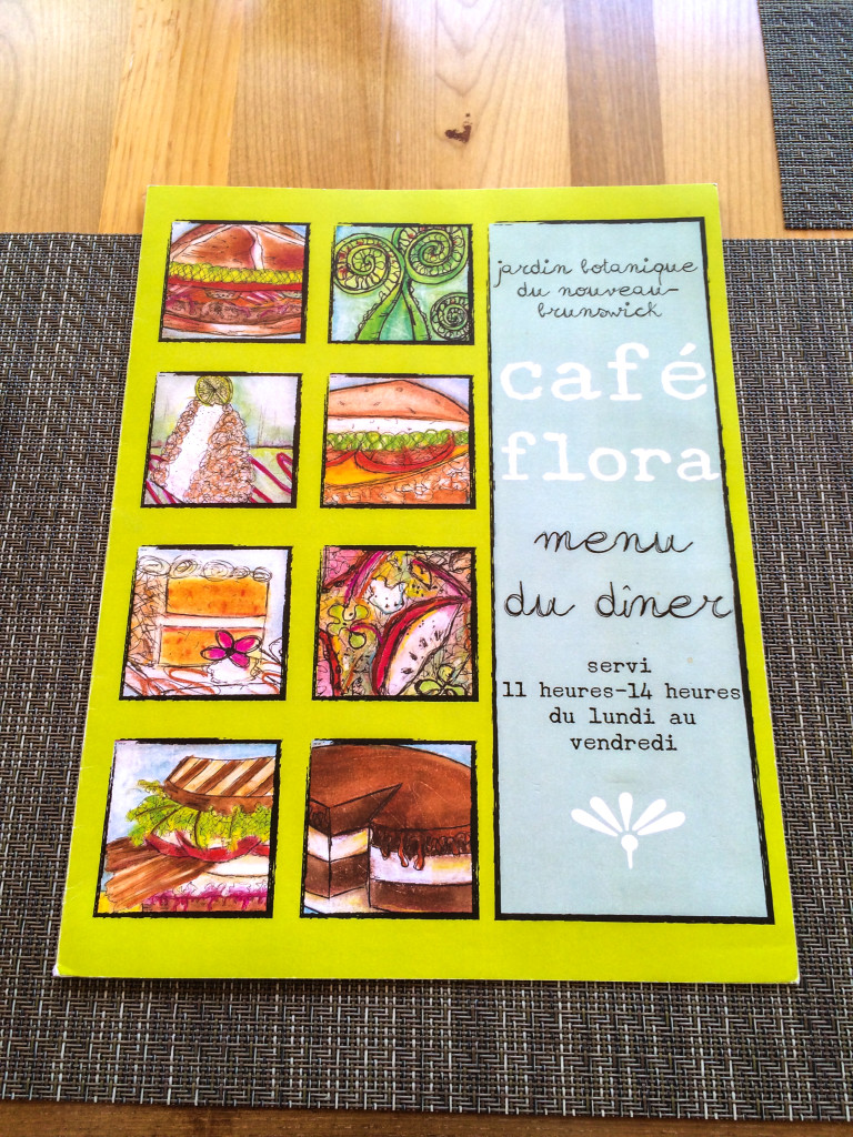 Menu colore du Cafe Flora