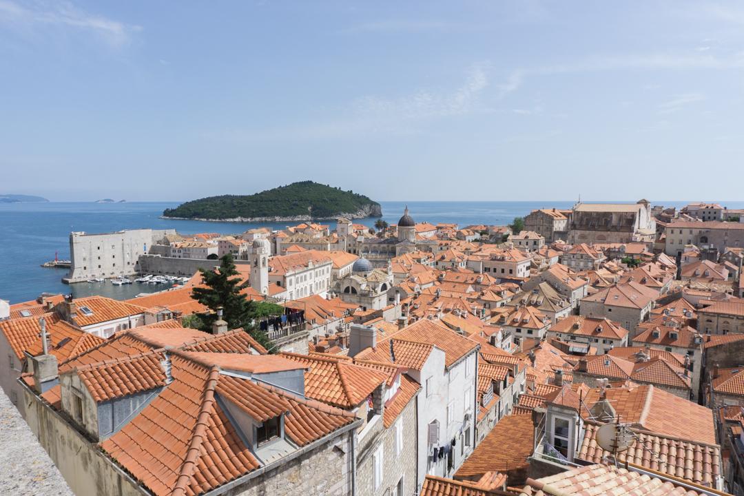 Au-dessus de Dubrovnik