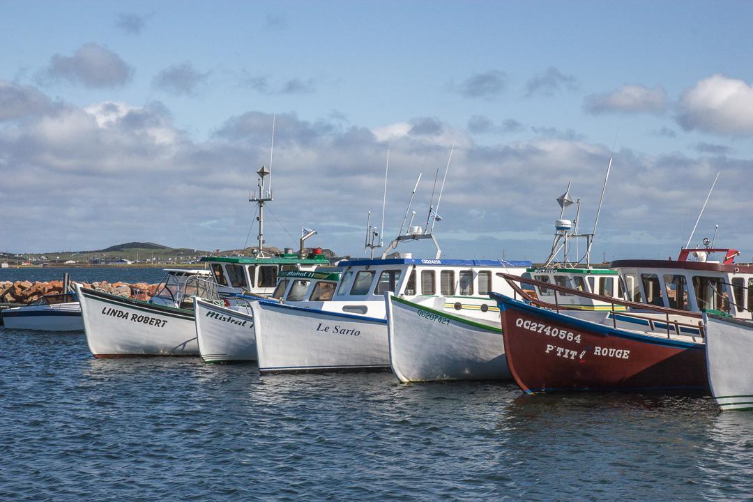 Bateaux au port iles de la madeleine