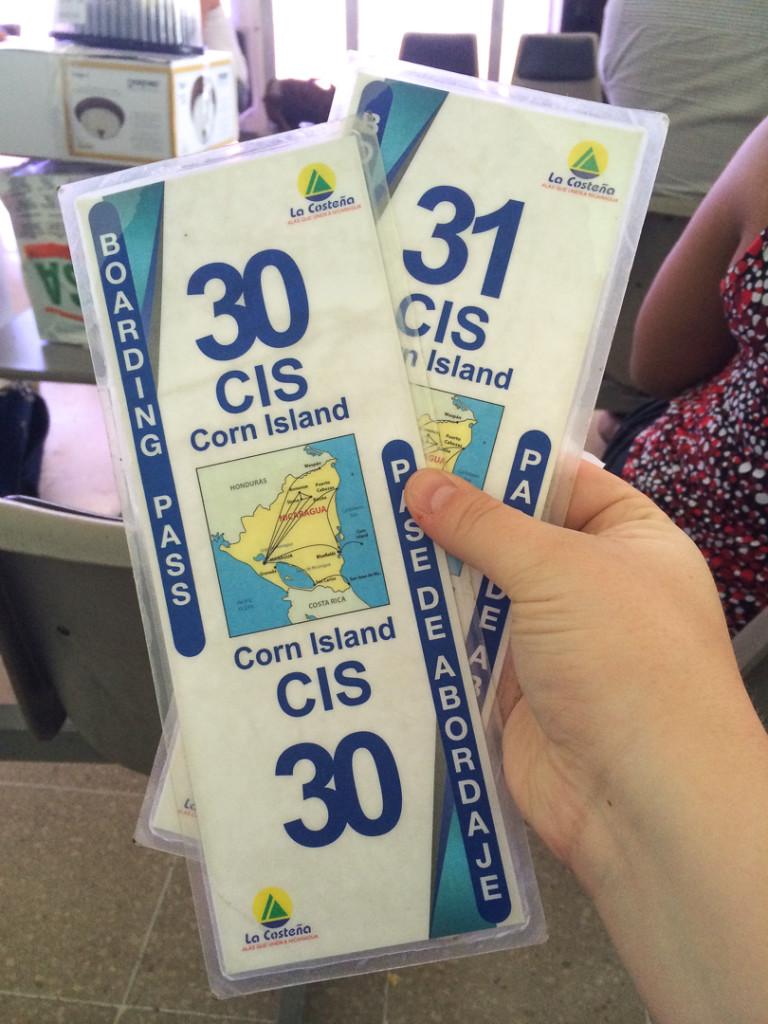 Billets davion Little Corn Corn Islands Nicaragua