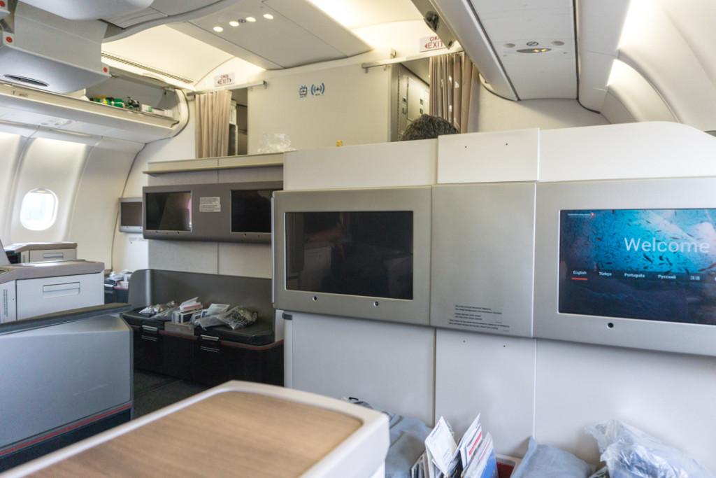 Cabine de l'avion - Turkish Airlines classe affaires