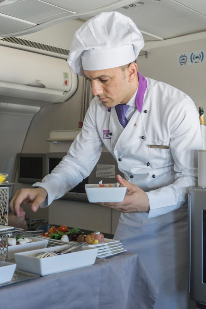 Chef a bord de la classe affaires Turkish Airlines