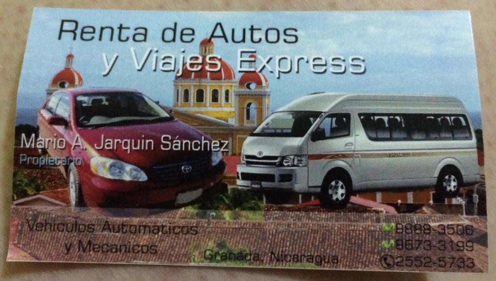 Contact du chauffeur de taxi de Granada