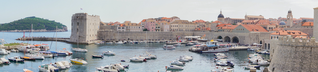 Panoramique du port de Dubrovnik