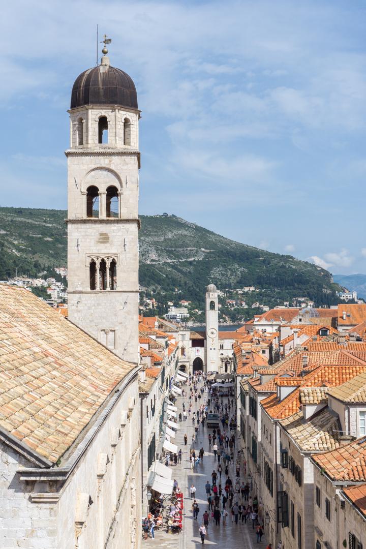 Placa - rue principale touristique de Dubrovnik