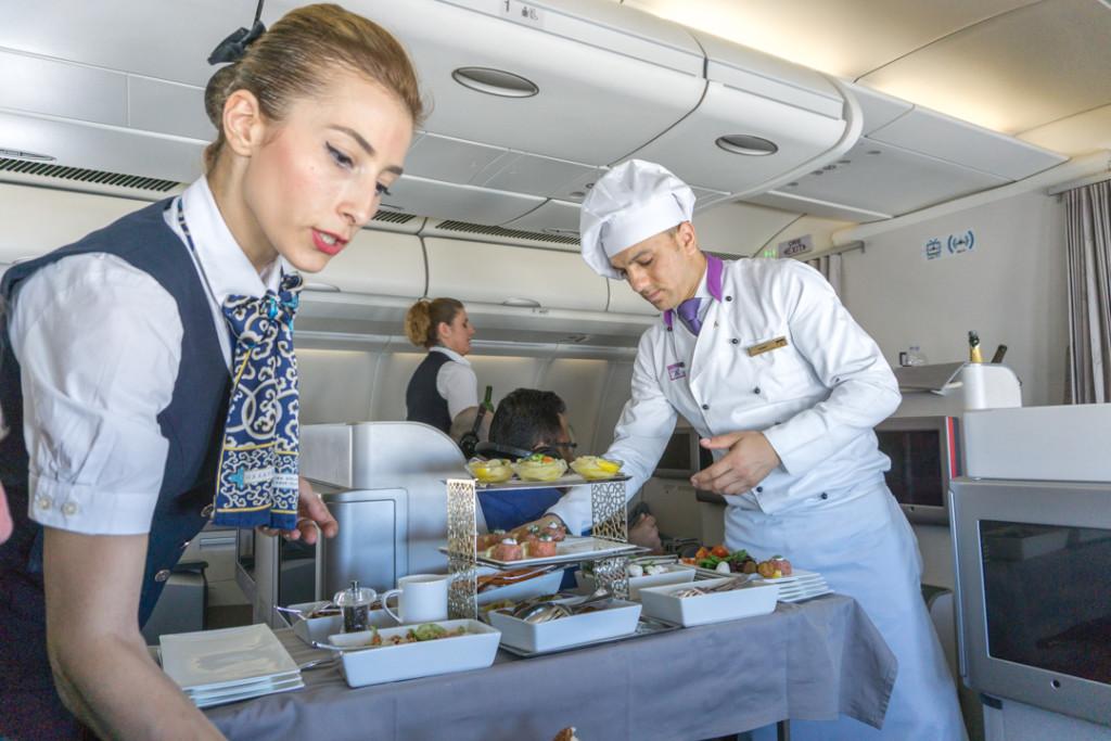 Service a bord