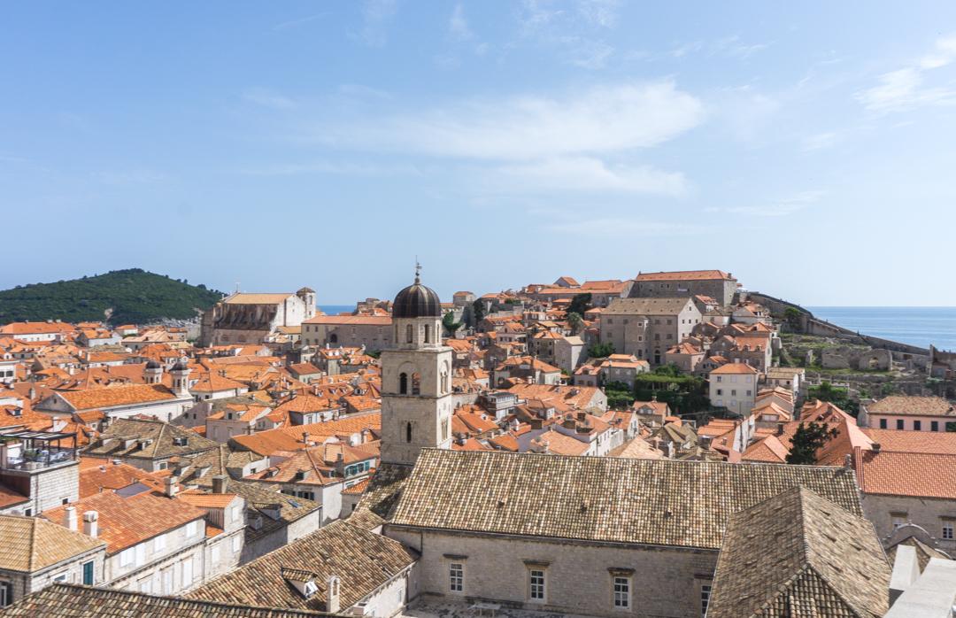 Vue aerienne de Dubrovnik