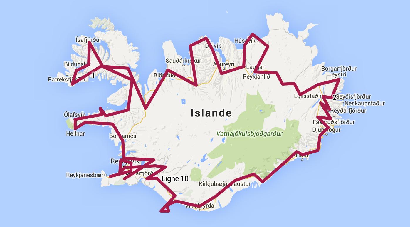 Budget Islande  Semaines